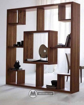 دکور قفسه چوبی زینا