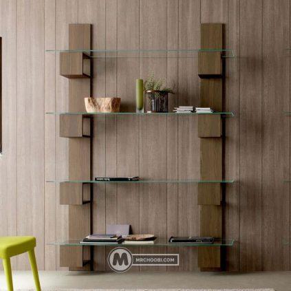 دکور کتابخانه چوبی ماهین