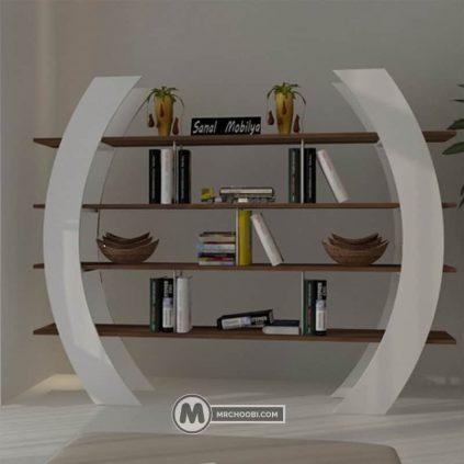 دکور کتابخانه چوبی ماهتا