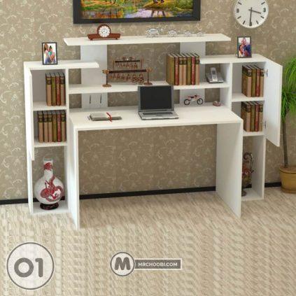 میز تحریر کتابخانه و کامپیوتر شینا