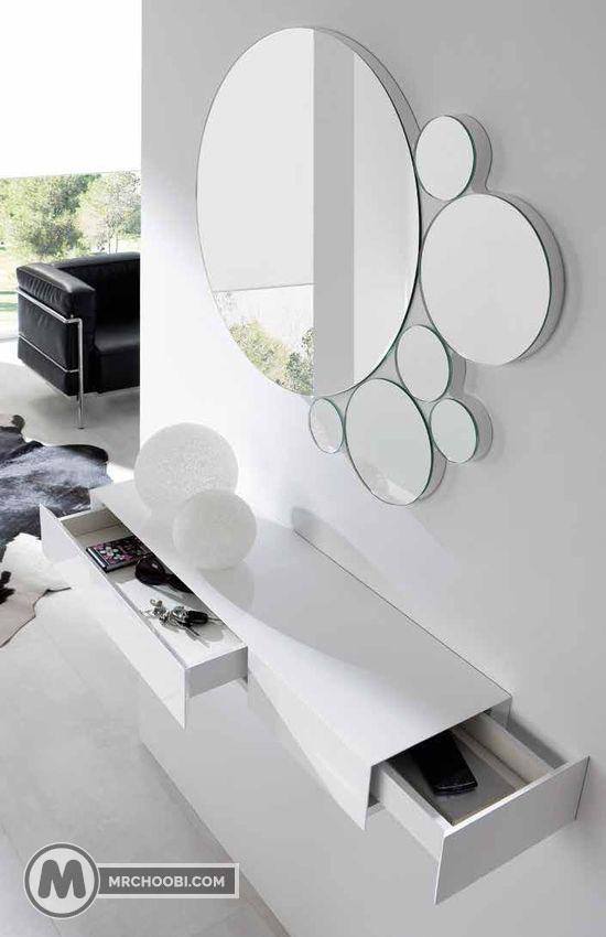 شلف و آینه دیواری
