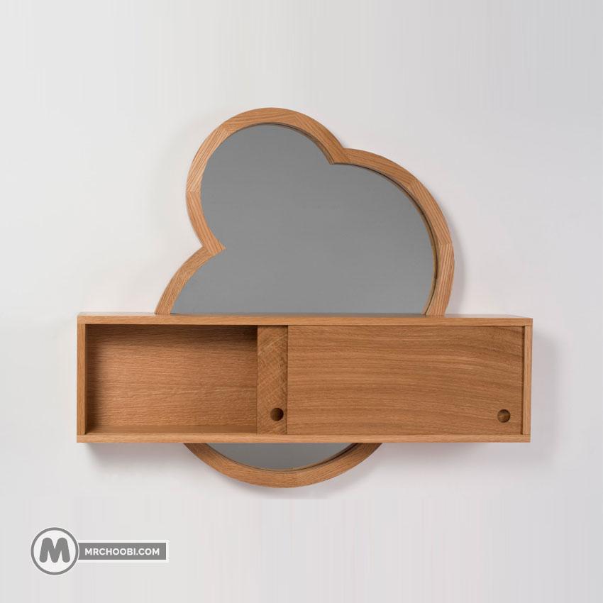 آینه و شلف دیواری